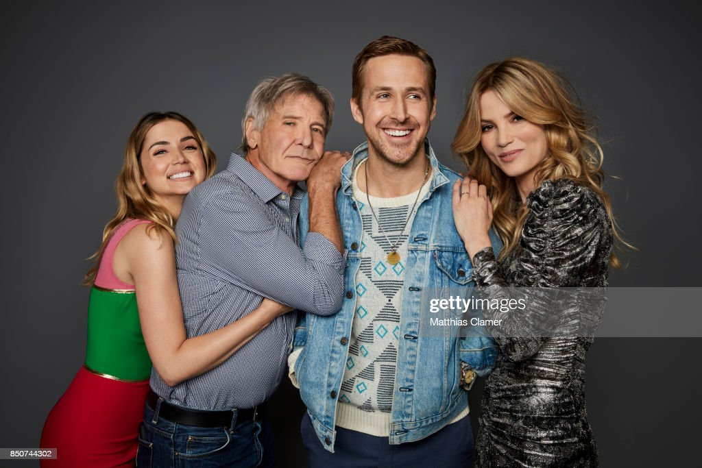 Actors Ana De Armas, Harrison Ford, Ryan Gosling and Sylvia Hoeks from Blade Runner 2049 are photographed for Entertainment Weekly Magazine on July 22, 2017 at Comic Con in San Diego, California.