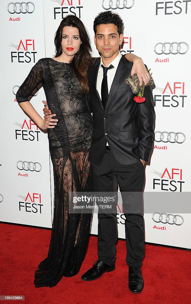 Actors Anabela Moreira and Rafael Morais arrive at the 'Holy Motors' special screening during the 2012 AFI Fest at Grauman's Chinese Theatre on November 3, 2012 in Hollywood, California.