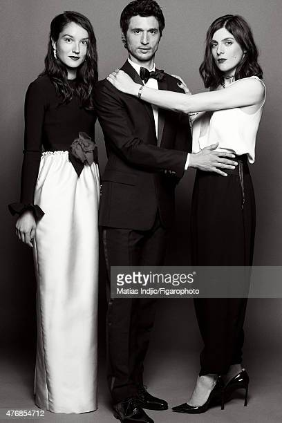 Actors Anais Demoustier Jeremie Elkaim and Valerie Donzelli are photographed for Madame Figaro on May 19 2015 at the Cannes Film Festival in Cannes...