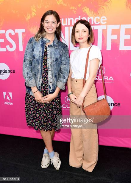 Actors Analeigh Tipton and Emily Browning attend 2017 Sundance NEXT FEST at The Theater at The Ace Hotel on August 13 2017 in Los Angeles California