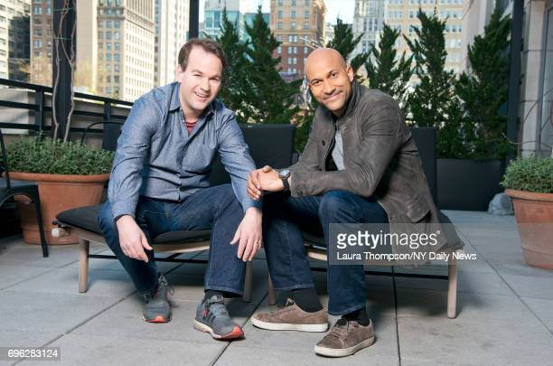 Actors and comedians Mike Birbiglia and Keegan Michael Key are photographed for NY Daily News on April 18 in New York City