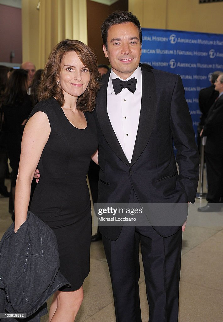 Actors and comedians Tina Fey and Jimmy Fallon attend the American Museum of Natural History's 2010 Museum Gala at the American Museum of Natural History on November 18, 2010 in New York City.