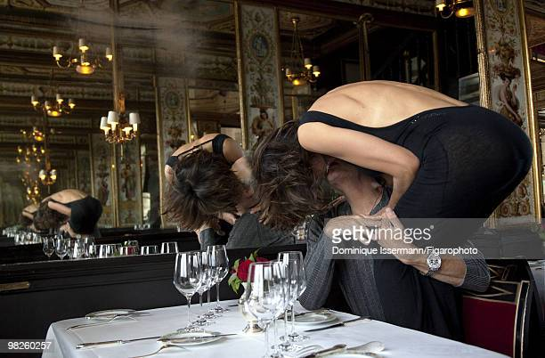 Actors and couple Sophie Marceau and Christopher Lambert behind the scenes of a portrait session for Madame Figaro Magazine in Paris in 2009 Shot at...