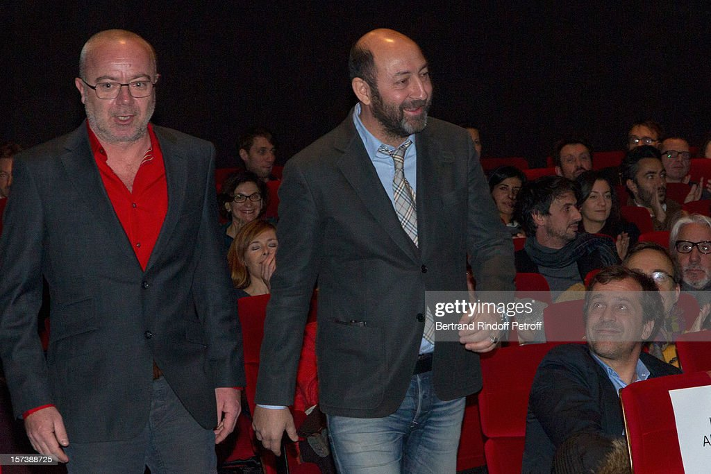 Actors and directors Kad Merad (R) and Olivier Baroux attend the Paris Premiere of their movie 'Mais Qui A Re Tue Pamela Rose' at Cinema Gaumont Marignan on December 2, 2012 in Paris, France.