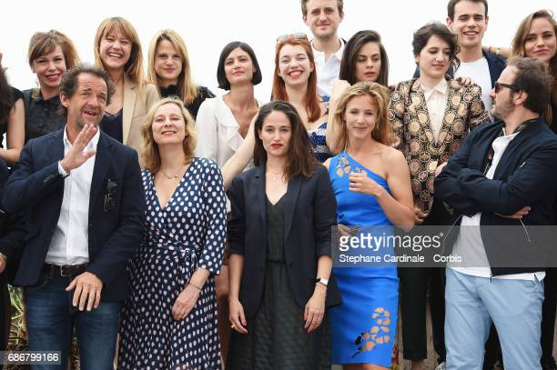 Actors and Filmmakers attend Adami Jeunes Talents photocall during the 70th annual Cannes Film Festival at Palais des Festivals on May 22 2017 in...