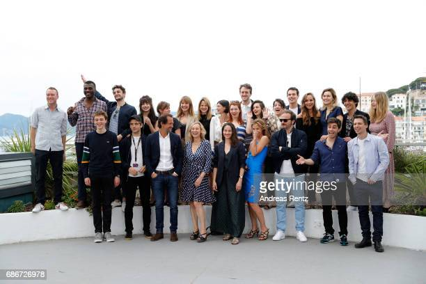 Actors and Filmmakers attend the Adami Jeunes Talents photocall during the 70th annual Cannes Film Festival at Palais des Festivals on May 22 2017 in...