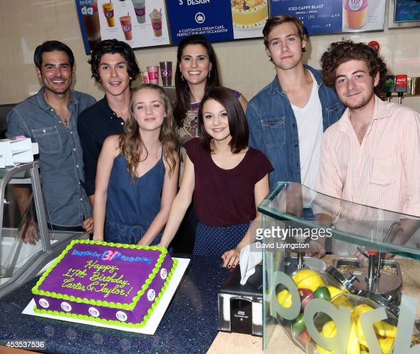 Actors and 'Finding Carter' cast members Eddie Matos Jesse Henderson Anna JacobyHeron Milena Govich Kathryn Prescott Caleb Ruminer and Jesse Carere...