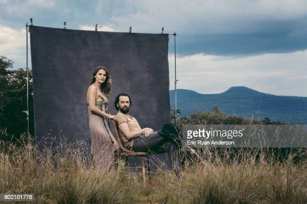 Actors and husband and wife Keri Russell and Matthew Rhys are photographed for The Hollywood Reporter on August 30 2016 in Stroudsburg Pennsylvania