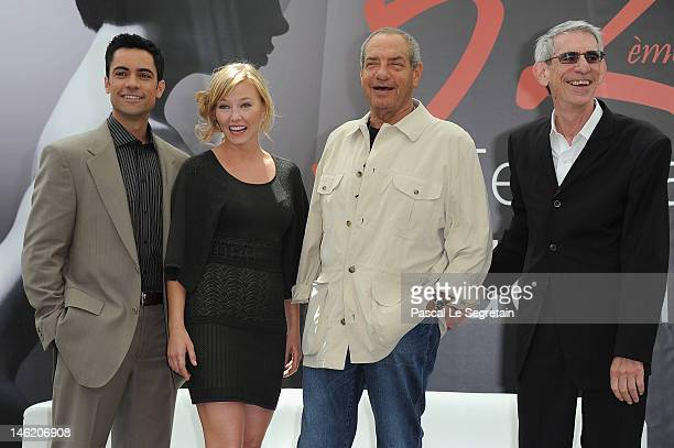 Actors and Producer Danny Pino Kelli Giddish Dick Wolf and Richard Belzer attend a photocall for the TV Series 'Law Order Special Victims Units'...