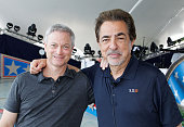 Actors and show hosts Gary Sinise and Joe Mantegna pose for a photo during the 27th National Memorial Day Concert Rehearsals on May 28 2016 in...