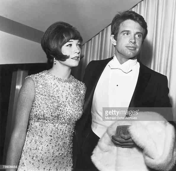 Actors and siblings Shirley MacLaine and Warren Beatty attend a movie premiere on April 18 1966 in Los Angeles California
