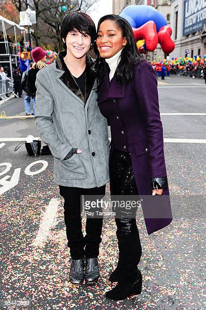Actors and singers Mitchel Musso and Keke Palmer attend the 83rd annual Macy's Thanksgiving Day Parade on the streets of Manhattan on November 26...