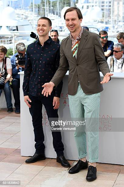 Actors Anders Danielsen Lie and Lars Eidinger attend the 'Personal Shopper' photocall during the 69th annual Cannes Film Festival at the Palais des...