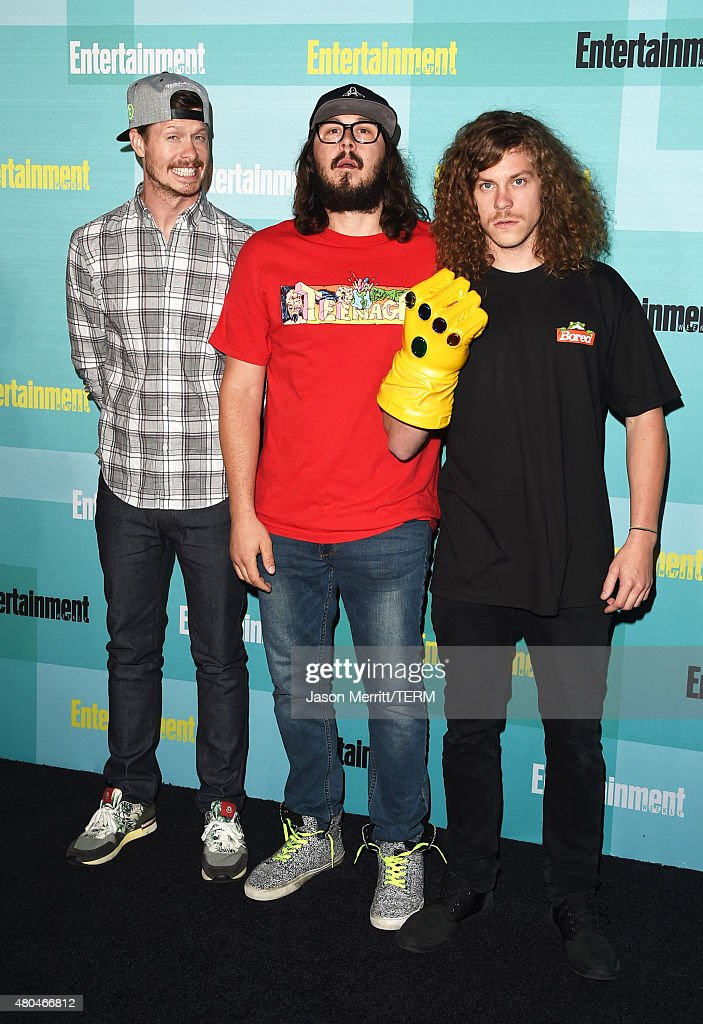 Actors Anders Holm Kyle Newacheck and Blake Anderson attend Entertainment Weekly's ComicCon 2015 Party sponsored by HBO Honda Bud Light Lime and Bud...