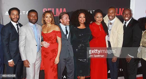 Actors Andre Holland David Oyelowo Carmen Ejogo Tim Roth Oprah Winfrey director/executive producer Ava DuVernay Colman Domingo and Omar Dorsey attend...