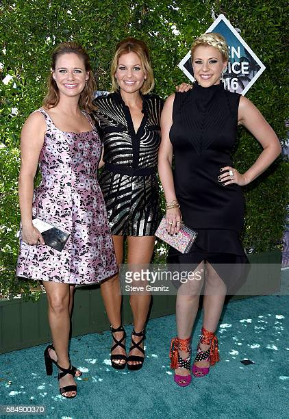 Actors Andrea Barber Candace CameronBure and Jodie Sweetin attend Teen Choice Awards 2016 at The Forum on July 31 2016 in Inglewood California