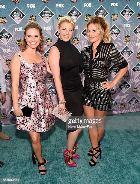Actors Andrea Barber Jodie Sweetin and Candace CameronBure attend Teen Choice Awards 2016 at The Forum on July 31 2016 in Inglewood California