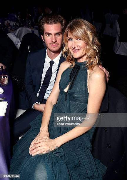 Actors Andrew Garfield and Laura Dern attend the 28th Annual Palm Springs International Film Festival Film Awards Gala at the Palm Springs Convention...