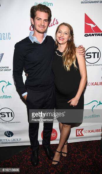 Actors Andrew Garfield and Teresa Palmer attend Australians In Film Presents 'Hacksaw Ridge' Screening and QA With Mel Gibson at Ahrya Fine Arts...