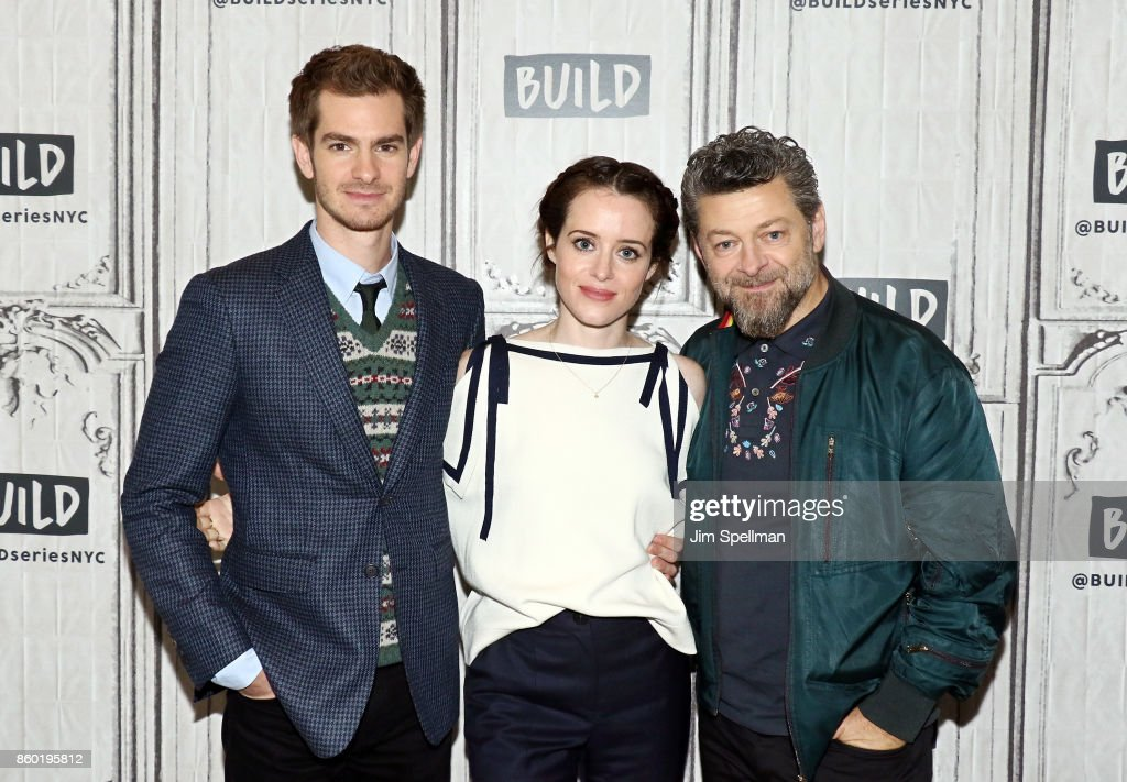 Actors Andrew Garfield, Claire Foy and director Andy Serkis attend Build to discuss 'Breathe'at Build Studio on October 11, 2017 in New York City.