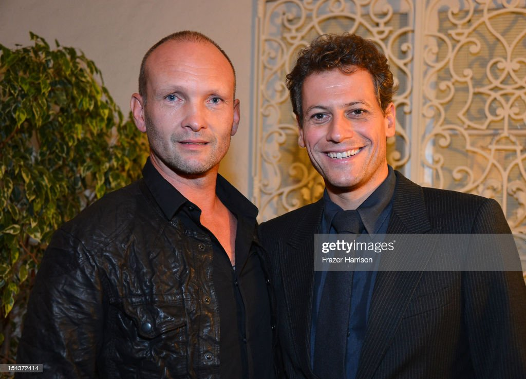 Actors Andrew Howard and <a gi-track='captionPersonalityLinkClicked' href=/galleries/search?phrase=Ioan+Gruffudd&family=editorial&specificpeople=212745 ng-click='$event.stopPropagation()'>Ioan Gruffudd</a> attend Wales Celebrates the launch of 'The Richard Burton Diaries' hosted by The Welsh Government, Swansea University and Yale University Press held at the British Consul-General residence, Hancock Park on October 18, 2012 in Los Angeles, California.