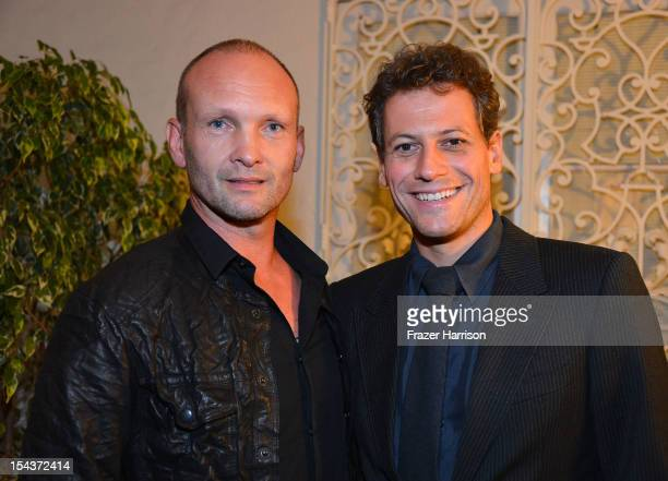 Actors Andrew Howard and Ioan Gruffudd attend Wales Celebrates the launch of 'The Richard Burton Diaries' hosted by The Welsh Government Swansea...