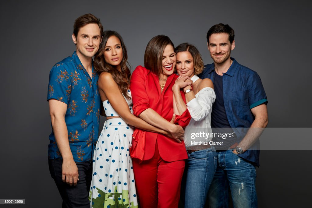 Actors Andrew J. West, Dania Ramirez, Lana Parrilla, Gabrielle Anwar and Colin O'Donoghue from Once Upon a Time are photographed for Entertainment Weekly Magazine on July 22, 2017 at Comic Con in San Diego, California. PUBLISHED