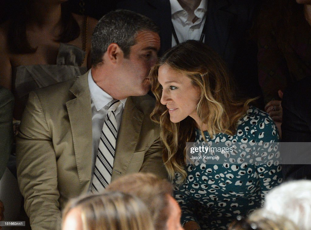 Actors Andy Cohen and <a gi-track='captionPersonalityLinkClicked' href=/galleries/search?phrase=Sarah+Jessica+Parker&family=editorial&specificpeople=201693 ng-click='$event.stopPropagation()'>Sarah Jessica Parker</a> attend the Diane Von Furstenberg show during Spring 2013 Mercedes-Benz Fashion Week at The Theatre at Lincoln Center on September 9, 2012 in New York City.