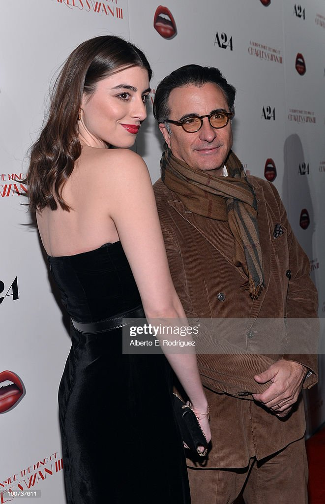 Actors <a gi-track='captionPersonalityLinkClicked' href=/galleries/search?phrase=Andy+Garcia&family=editorial&specificpeople=156410 ng-click='$event.stopPropagation()'>Andy Garcia</a> (R) and <a gi-track='captionPersonalityLinkClicked' href=/galleries/search?phrase=Dominik+Garcia-Lorido&family=editorial&specificpeople=1424208 ng-click='$event.stopPropagation()'>Dominik Garcia-Lorido</a> attend the Los Angeles premiere of A24's 'A Glimpse Inside The Mind Of Charles Swan III' at ArcLight Hollywood on February 4, 2013 in Hollywood, California.