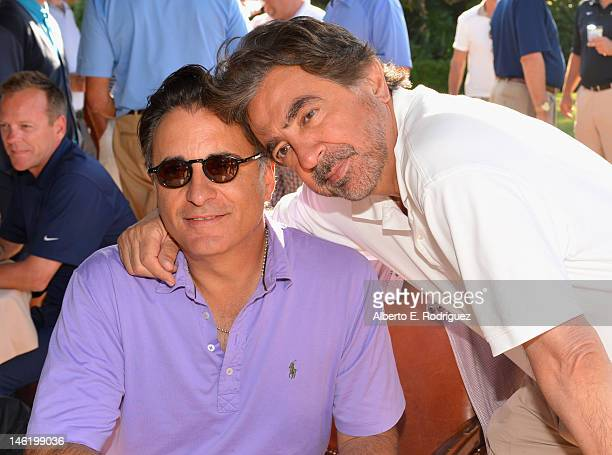 Actors Andy Garcia and Joe Mantegna attend the Screen Actors Guild Foundation's 3rd Annual LA Golf Classic at Lakeside Golf Club on June 11 2012 in...