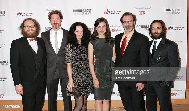 Actors Andy Grotelueschen Samuel Roukin Geraldine Hughes Mikaela Feely lehmann Drew McVety and Ben Steinfeld attend 'Cyrano De Bergerac' Broadway...