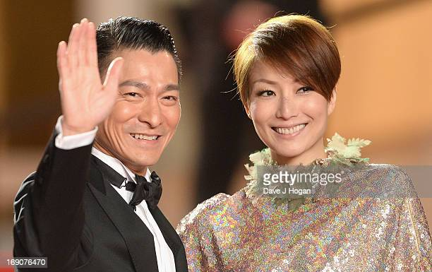 Actors Andy Lau and Sammi Cheng attend the 'Blind Detective' Premiere during the 66th Annual Cannes Film Festival at the Palais des Festivals on May...