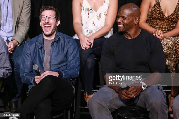 Actors Andy Samberg and Terry Crews attend Fox's 'Brooklyn NineNine' FYC @ UCB at UCB Sunset Theater on June 14 2017 in Los Angeles California