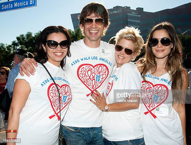 Actors Anel Gorham Christopher Gorham Tammy Lynn Michaels and Carly Pope attend the 28th Annual AIDS Walk Los Angeles on October 14 2012 in West...