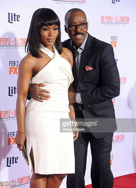 Actors Angela Bassett and Courtney B Vance arrive at the premiere of 'FX's 'American Crime Story The People V OJ Simpson' at Westwood Village Theatre...