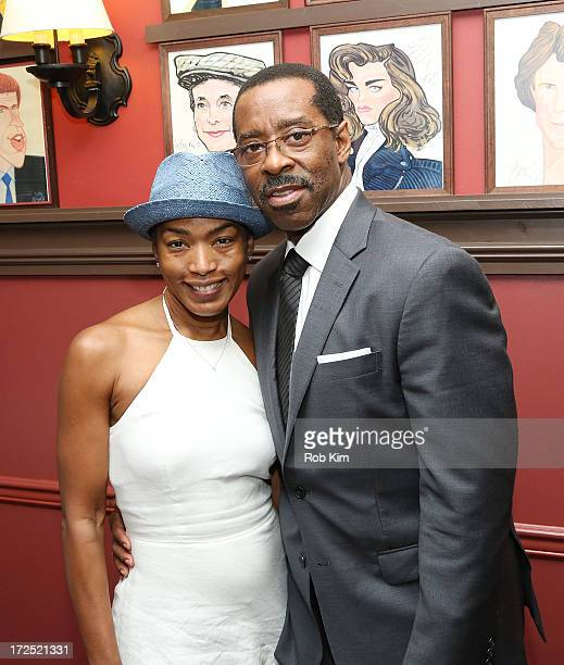 Actors Angela Bassett and Courtney B Vance attend Courtney B Vance's Caricature Unveiling at Sardi's on July 2 2013 in New York City