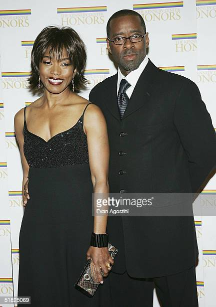 Actors Angela Bassett and husband Courtney B Vance arrive at the 27th Annual Kennedy Center Honors at US Department of State December 4 2004 in...