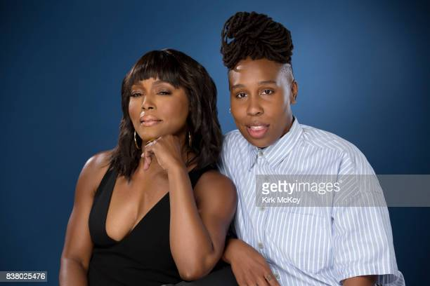 Actors Angela Bassett and Lena Waithe are photographed for Los Angeles Times on July 25 2017 in Los Angeles California PUBLISHED IMAGE CREDIT MUST...