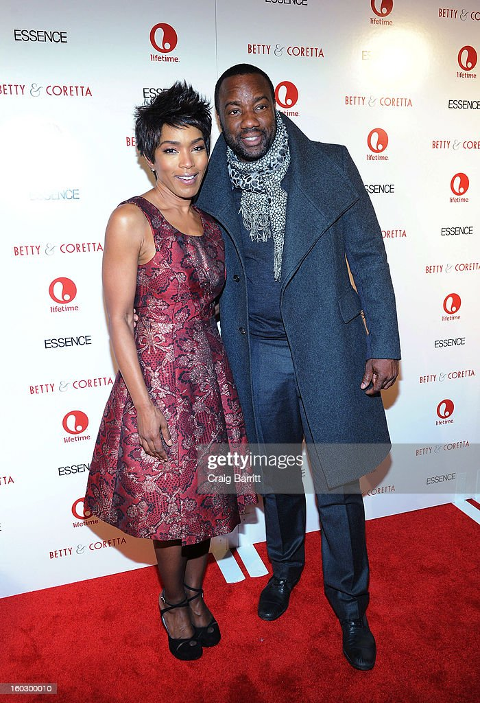 Actors (L-R) Angela Bassett and Malik Yoba attend the premiere of 'Betty & Coretta' to celebrate with Lifetime and cast at Tribeca Cinemas on January 28, 2013 in New York City.