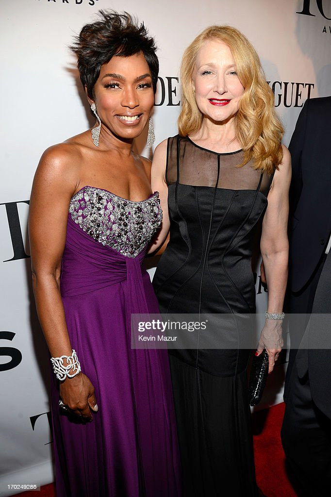 Actors Angela Bassett (L) and Patricia Clarkson attend The 67th Annual Tony Awards at Radio City Music Hall on June 9, 2013 in New York City.