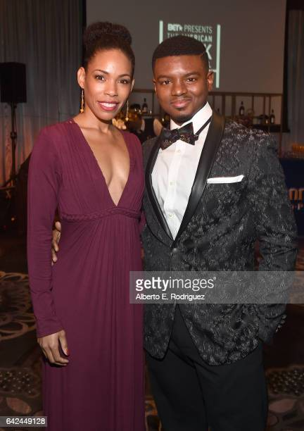 Actors Angela Lewis and Jamal MalloryMcCree attend BET Presents the American Black Film Festival Honors on February 17 2017 in Beverly Hills...