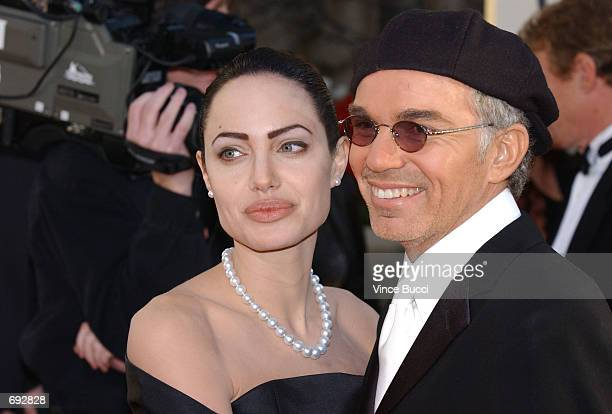 Actors Angelina Jolie and Billy Bob Thornton attend the 59th Annual Golden Globe Awards at the Beverly Hilton Hotel January 20 2002 in Beverly Hills...