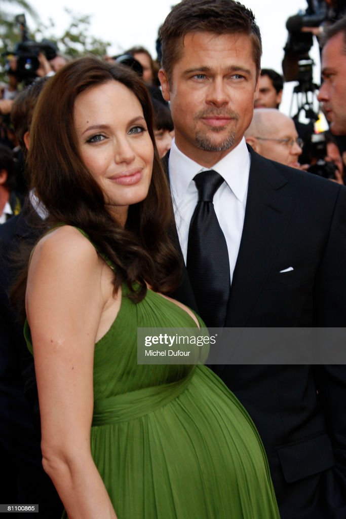 Actors Angelina Jolie (L) and Brad Pitt arrive at the Kung Fu Panda Premiere at the Palais des Festivals during the 61st International Cannes Film Festival May 15 , 2008 in Cannes, France.