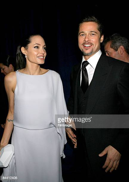 Actors Angelina Jolie and Brad Pitt attend the 14th Annual Critics' Choice Awards after party held at Viceroy on January 8 2009 in Santa Monica...