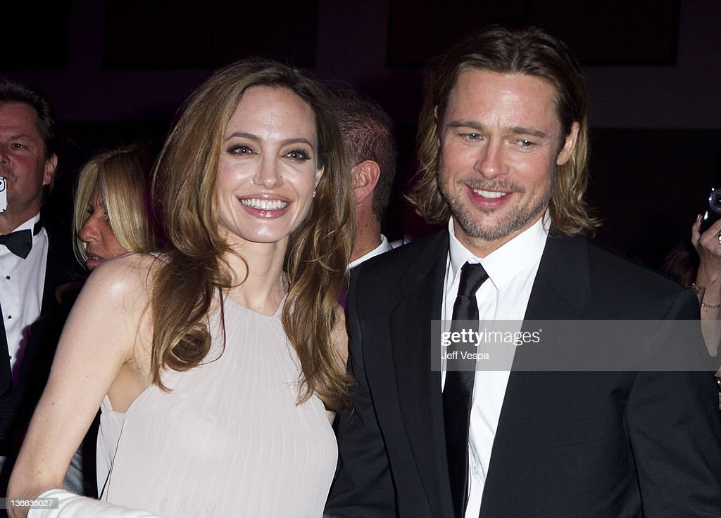 Actors <a gi-track='captionPersonalityLinkClicked' href=/galleries/search?phrase=Angelina+Jolie&family=editorial&specificpeople=201591 ng-click='$event.stopPropagation()'>Angelina Jolie</a> and <a gi-track='captionPersonalityLinkClicked' href=/galleries/search?phrase=Brad+Pitt+-+Actor&family=editorial&specificpeople=201682 ng-click='$event.stopPropagation()'>Brad Pitt</a> attend The 23rd Annual Palm Springs International Film Festival Awards Gala at the Palm Springs Convention Center on January 7, 2012 in Palm Springs, California.