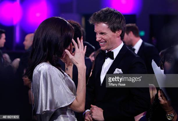 Actors Angelina Jolie and Eddie Redmayne attend the 20th annual Critics' Choice Movie Awards at the Hollywood Palladium on January 15 2015 in Los...