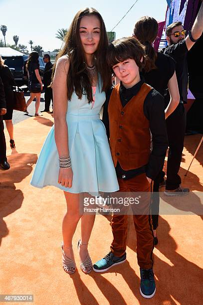 Actors Angelina Wahler and Max Charles attend Nickelodeon's 28th Annual Kids' Choice Awards held at The Forum on March 28 2015 in Inglewood California