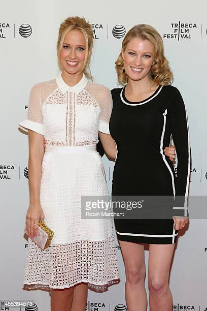 Actors Anna Camp and Ashley Hinshaw attend the 'Goodbye To All That' Premiere during the 2014 Tribeca Film Festival at the SVA Theater on April 17...
