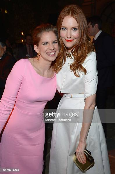 Actors Anna Chlumsky and Darby Stanchfield attend the PEOPLE/TIME WHCD cocktail party at St Regis Hotel Astor Terrace on May 2 2014 in Washington DC