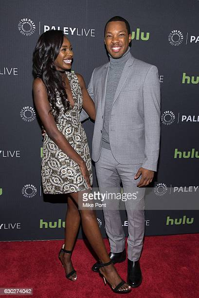Actors Anna Diop and Corey Hawkins attend the '24 Legacy' Preview Screening Panel Discussion at The Paley Center for Media on December 19 2016 in New...